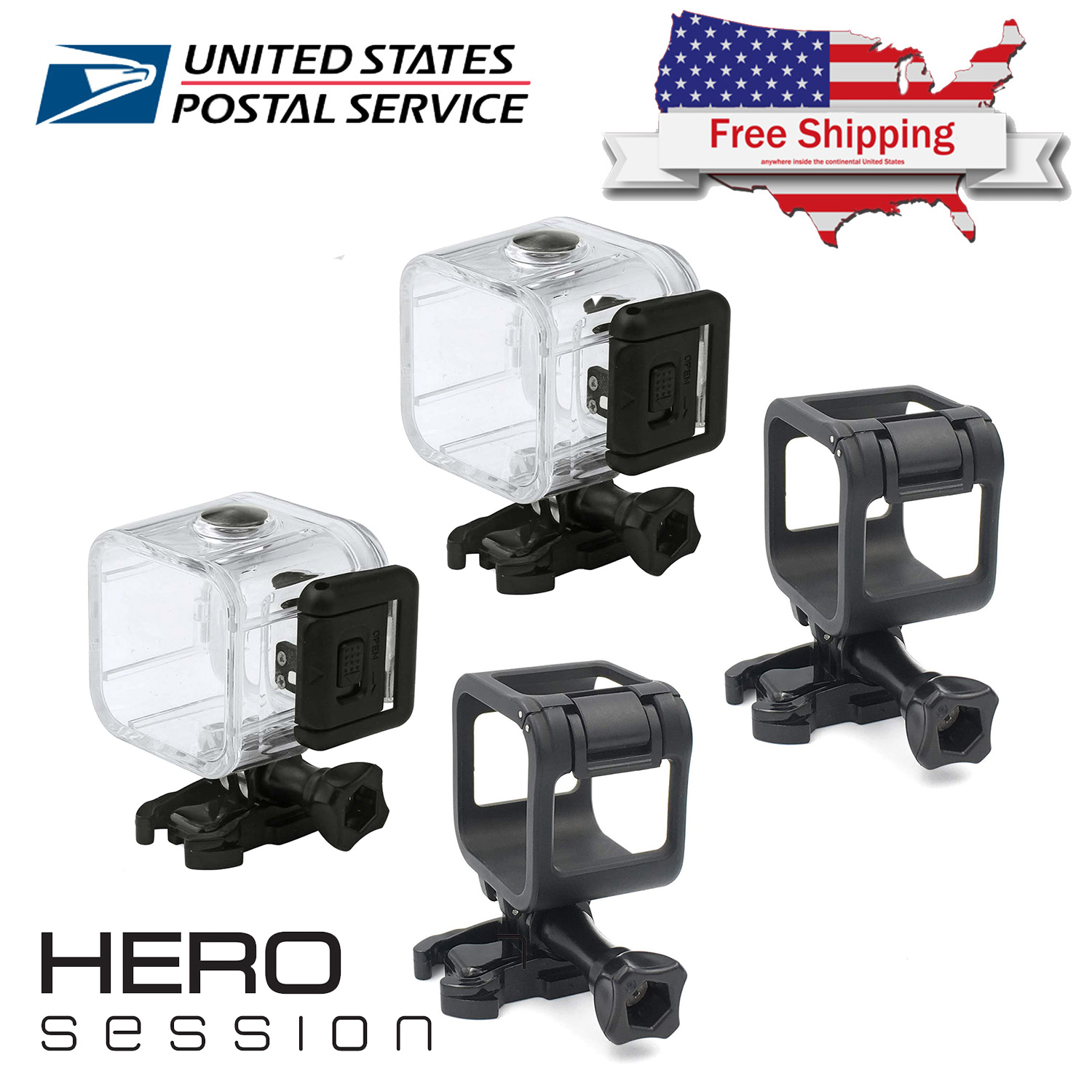 GoPro Accessories Frame Protective Housing Case for Go pro Hero 4 Session