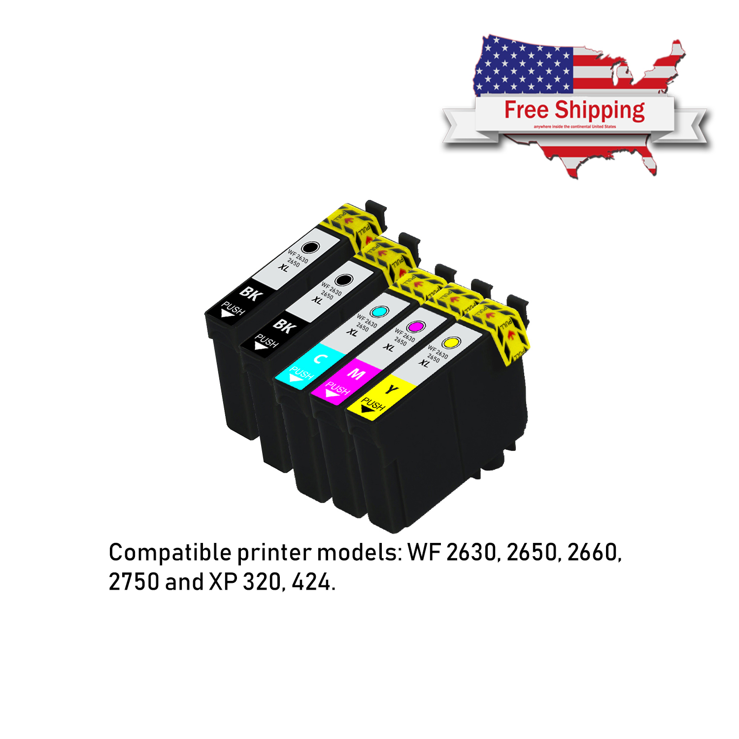 5 Pack NON-OEM Compatible Ink CARTRIDGE For Epson
